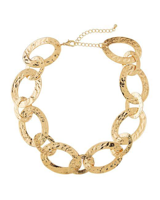 Panacea - Metallic Textured-link Necklace - Lyst