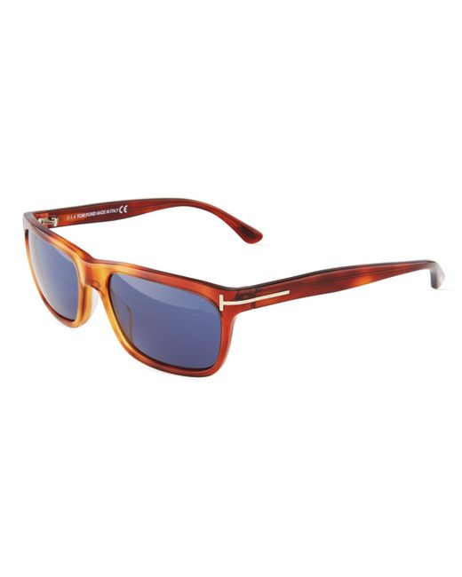 Tom Ford - Brown Rectangle Acetate Sunglasses for Men - Lyst