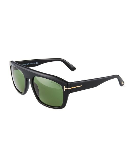 Tom Ford - Green Square Acetate Sunglasses - Lyst