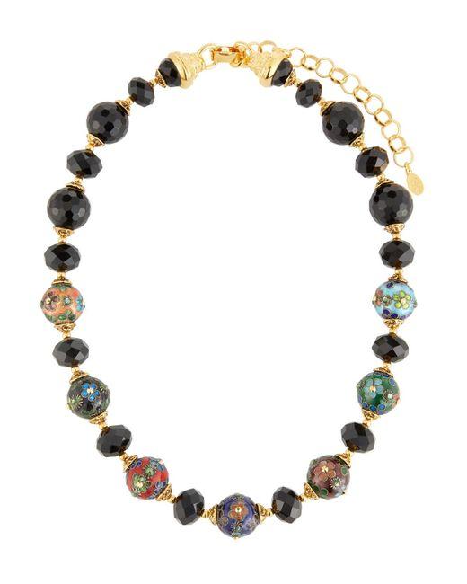 Jose & Maria Barrera | Cloisonne & Jet Black Beaded Necklace | Lyst
