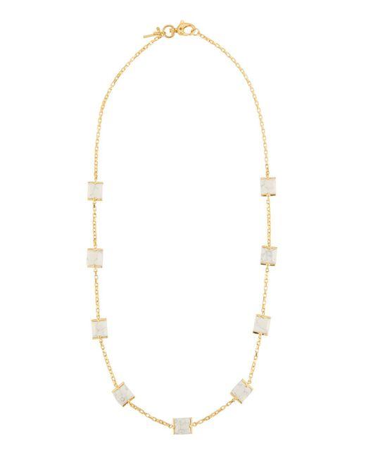 Lele Sadoughi - White Long Rosary Cube Necklace - Lyst