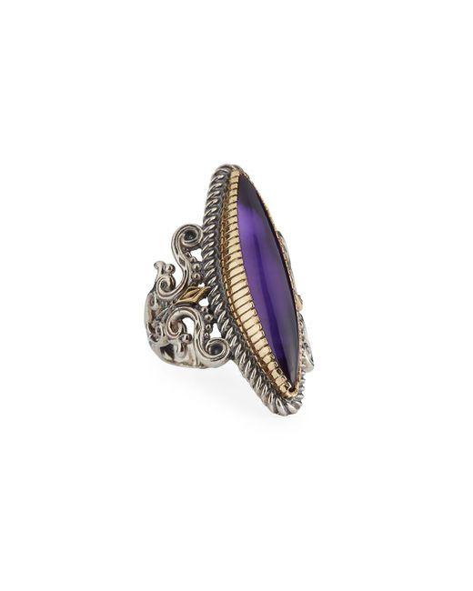 Konstantino | Purple Erato Marquise Amethyst Doublet Ring | Lyst