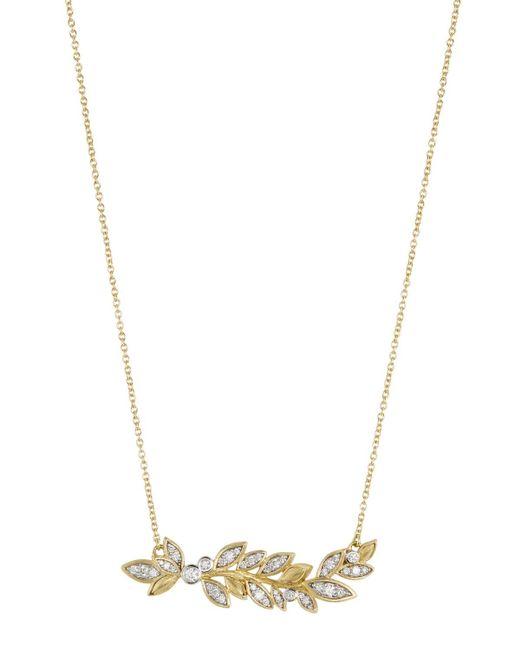 Jude Frances - Metallic 18k Sonoma Diamond Leaf Necklace - Lyst