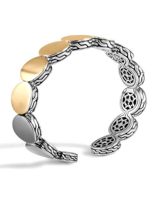 John Hardy - Metallic Dot Silver & Gold-plate Flex Cuff - Lyst
