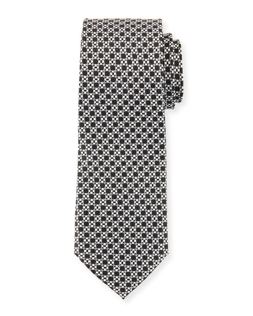 Neiman Marcus - Multicolor Men's Neat Pattern Silk Tie for Men - Lyst