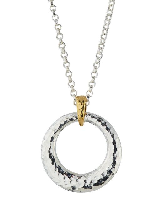 Gurhan - Metallic Hoopla Hammered Ring Pendant Necklace - Lyst