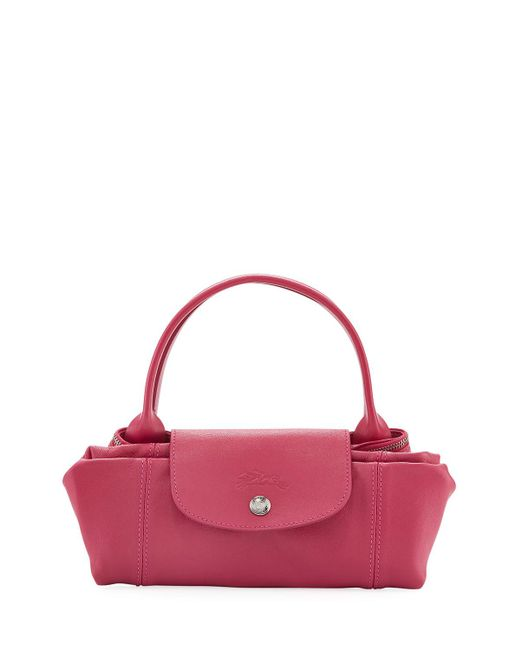 Longchamp - Le Pliage Cuir Small Tote Bag Pink - Lyst
