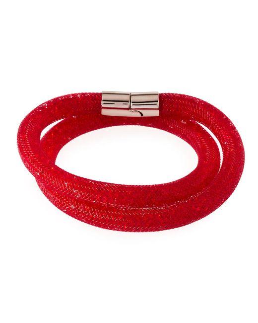 Swarovski - Red Stardust Convertible Crystal Mesh Bracelet/choker - Lyst