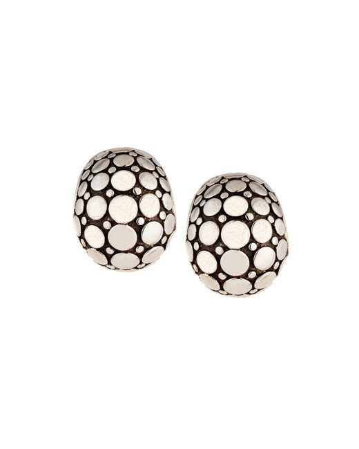 John Hardy - Metallic Dot Silver Buddha Belly Earrings - Lyst