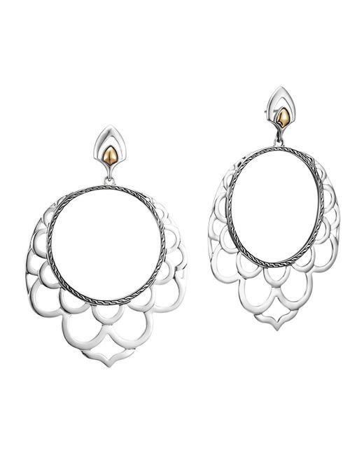 John Hardy | Metallic Naga 18k & Silver Lace Hoop Earrings | Lyst