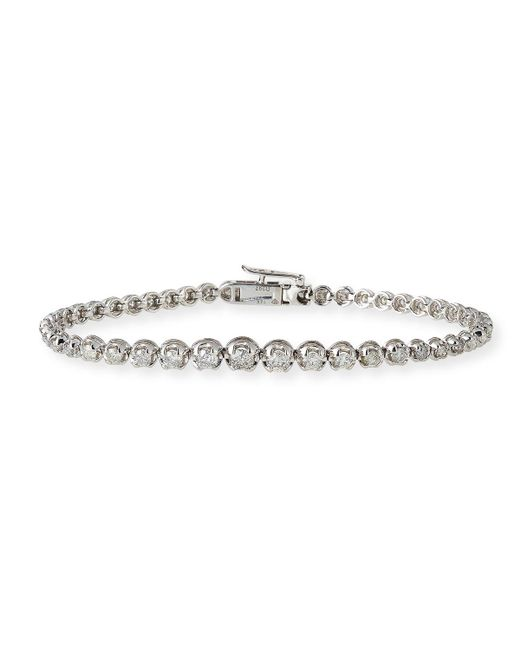 Neiman Marcus - 14k White Gold Diamond Tennis Bracelet - Lyst