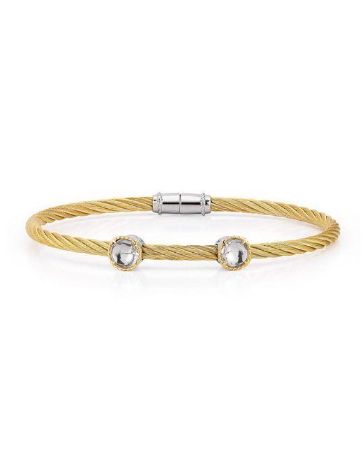 Alor - Metallic Double Topaz Station Cable Bracelet - Lyst