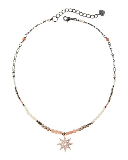 Nakamol - Metallic Beaded Pave North Star Pendant Necklace - Lyst