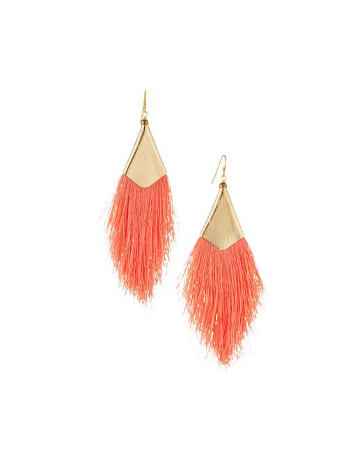 Nakamol - Red Fringe Drop Earrings - Lyst