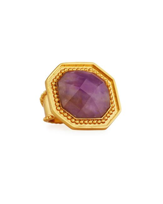 Stephanie Kantis | Purple Button Octagonal Amethyst Adjustable Statement Ring | Lyst