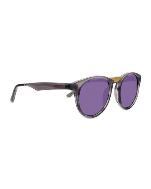 d0d5401c31 ... Smoke X Mirrors - Gray Black Betty Round Acetate And Stainless Steel  Sunglasses - Lyst
