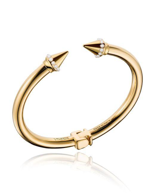 Vita Fede - Metallic Mini Titan Pearly Cuff Bracelet - Lyst