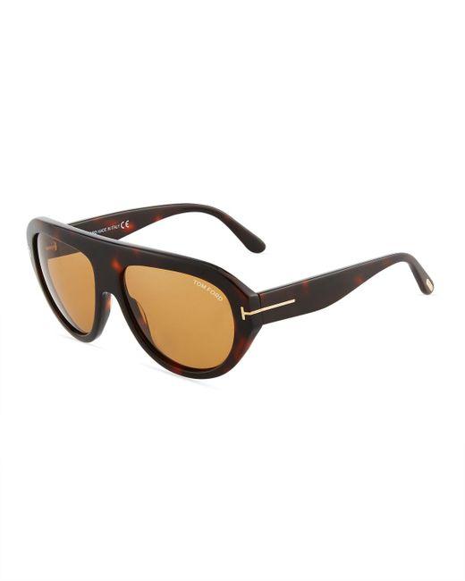 Tom Ford - Brown Felix Semi-shield Tortoiseshell Acetate Sunglasses - Lyst