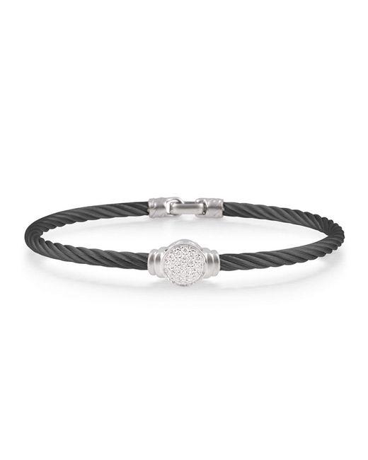 Alor - Black Round Pave Diamond Cable Bracelet - Lyst