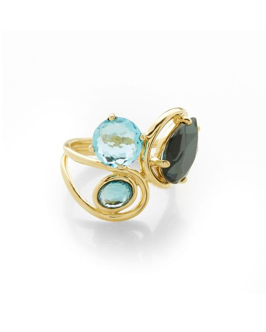 Ippolita - Blue 18k Rock Candy® Squiggle Ring In Midnight Rain - Lyst