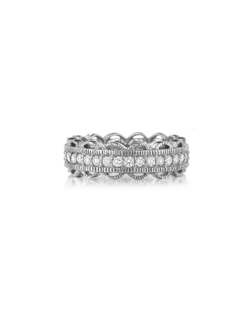 Penny Preville | 18k White Gold Lace Diamond Ring | Lyst