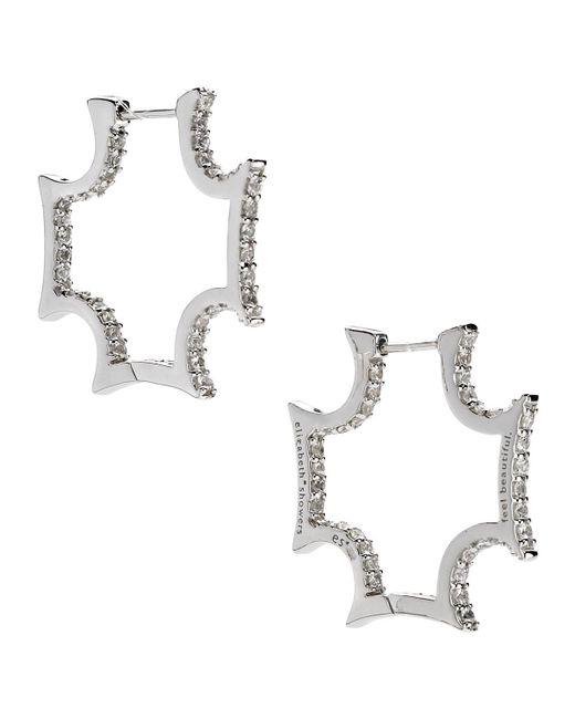 Elizabeth Showers | Maltese White Sapphire Hoop Earrings | Lyst