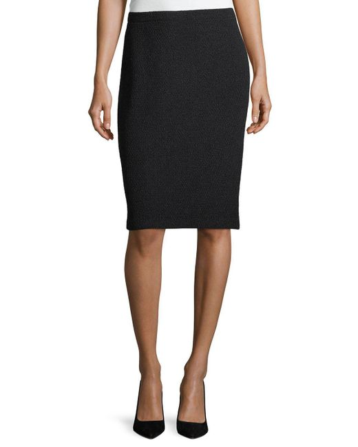 st pull on knit pencil skirt in black lyst