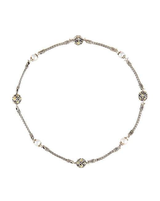 John Hardy - Metallic Dot Beaded Wrap Necklace - Lyst