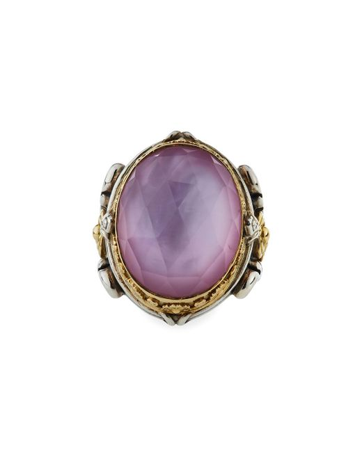 Konstantino - Pink Large Doublet Oval Ring - Lyst
