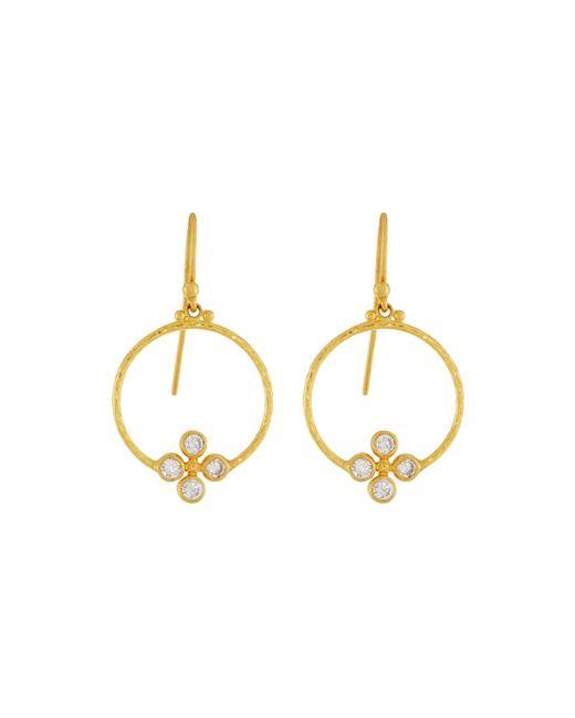 Gurhan - Metallic Clover 24k Circular Diamond Drop Earrings - Lyst