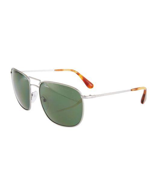 Prada - Multicolor Aviator Metal Sunglasses - Lyst