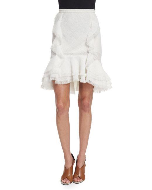Jason Wu - White Ruffled Fit-&-flare Skirt - Lyst