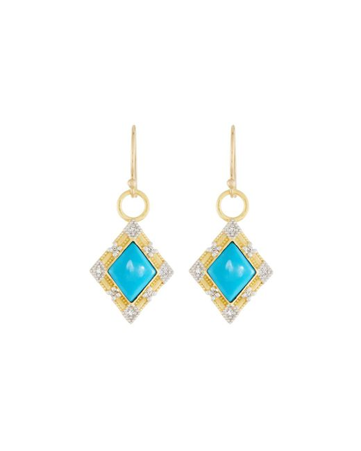Jude Frances - Blue Lisse 18k Dangle/drop Earrings With Turquoise - Lyst