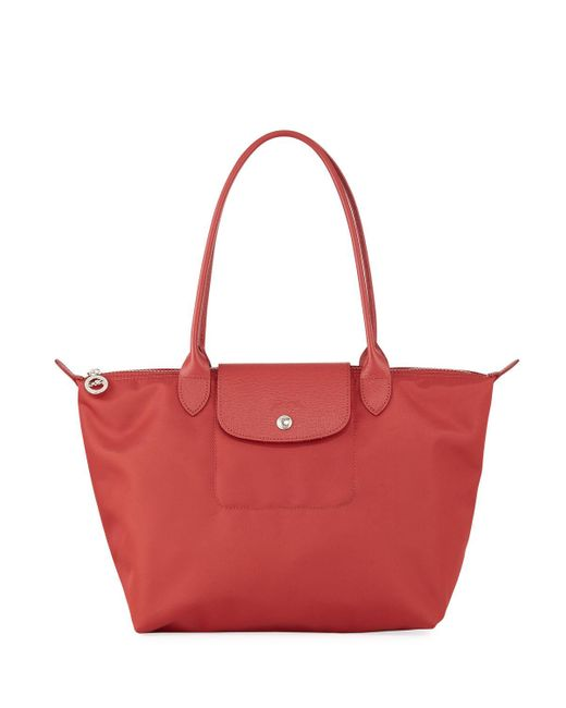 Longchamp - Red Le Pliage Neo Small Nylon Shoulder Tote Bag - Lyst
