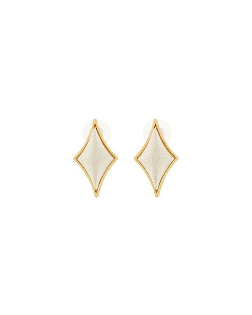 Stephanie Kantis | Metallic Diamond-motif Cabochon Stud Earrings | Lyst