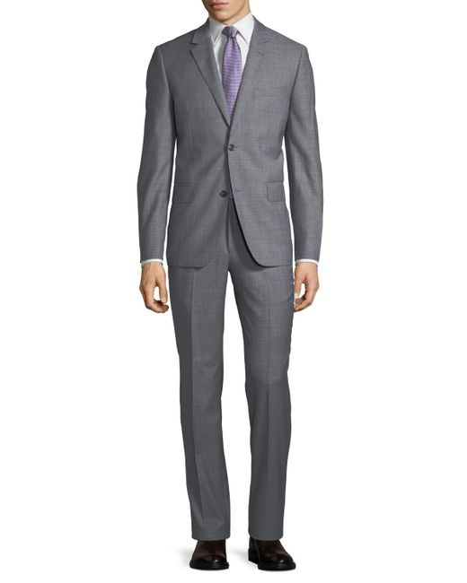 Neiman Marcus - Gray Two-button Sharkskin Two-piece Suit for Men - Lyst