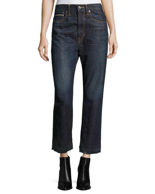 Vince - Blue Union Slouch Released-hem Jeans - Lyst