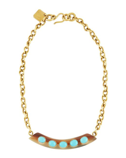 Ashley Pittman - Blue Uzio Horn & Turquoise Statement Necklace - Lyst