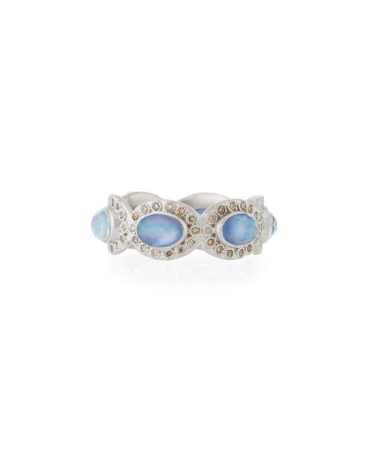 Armenta - Blue New World Oval Triplet & Diamond Ring - Lyst