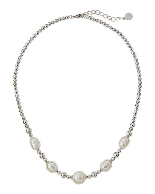 Majorica   White Allison Beaded Baroque Pearl Necklace   Lyst
