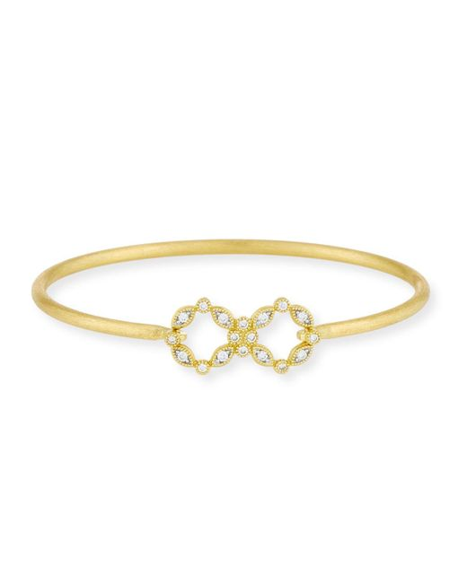 Jude Frances - Metallic Lisse 18k Gold/diamond Bracelet - Lyst