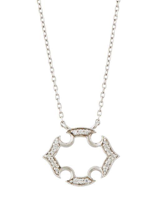 Jude Frances | Malta 18k White Gold Diamond Pendant Necklace | Lyst