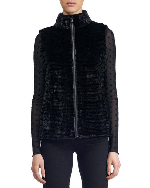 Gorski | Black Zip-front Fur Vest | Lyst