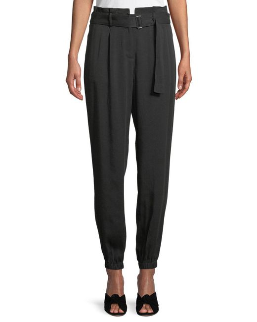 Laundry by Shelli Segal - Black Belted High-waist Jogger Pants - Lyst