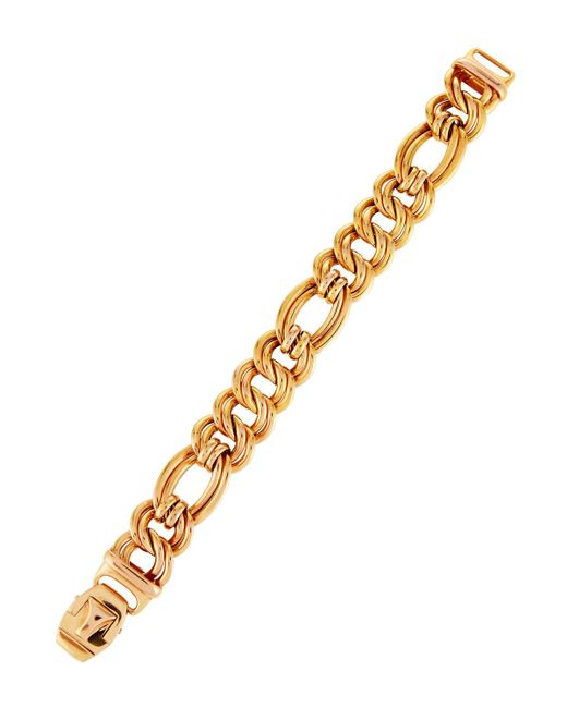 Roberto Coin - Metallic 18k Rose Gold Flat Double-link Bracelet - Lyst