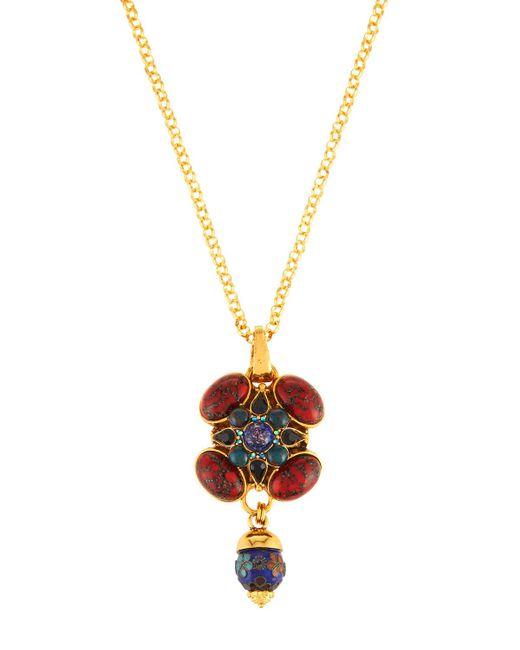 Jose & Maria Barrera - Metallic Multi-jewel Long Pendant Necklace - Lyst
