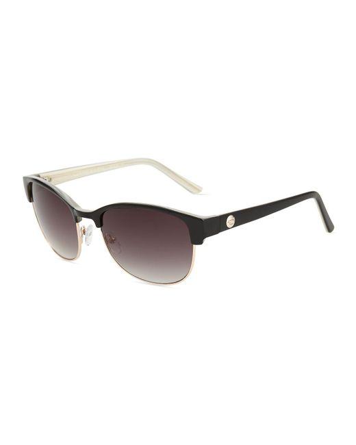 O By Oscar De La Renta   Black Half-rim Square Sunglasses   Lyst
