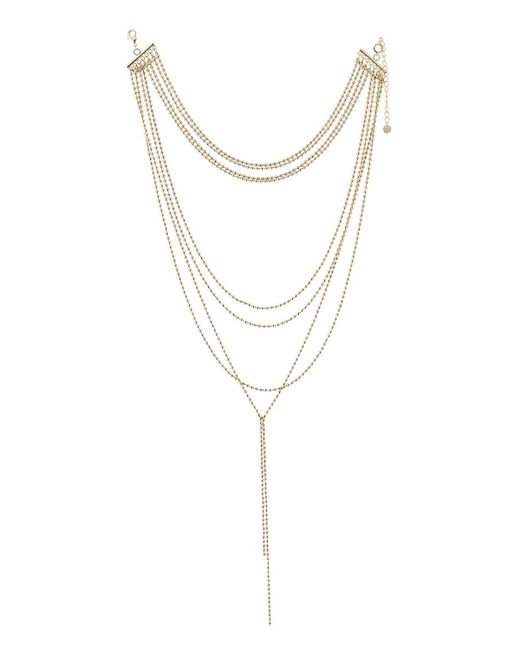 Lydell NYC - Metallic Ball-chain Layered Necklace - Lyst