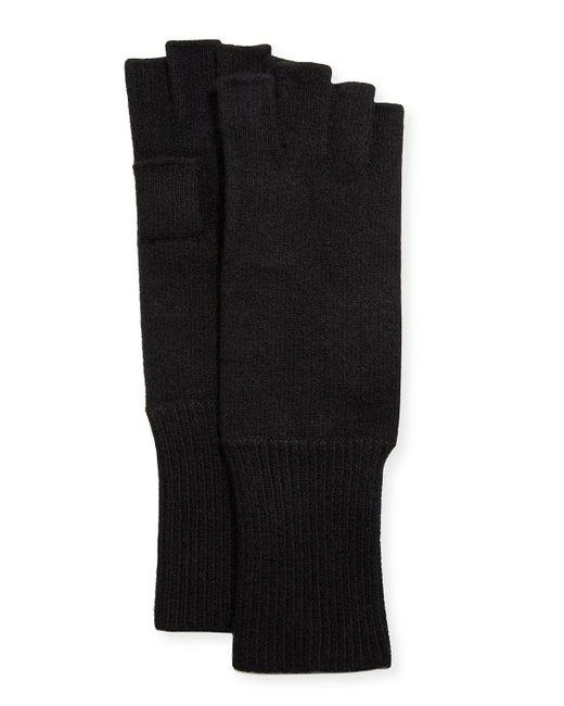 Portolano - Black Men's Cashmere Fingerless Gloves for Men - Lyst