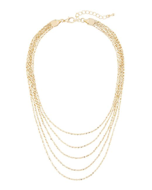 Panacea | Metallic Golden Layered Choker Necklace | Lyst